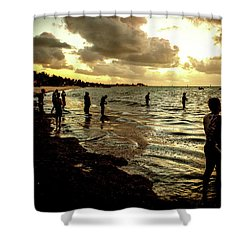 Ocean Thinker Shower Curtain