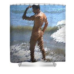Ocean Thoughts Shower Curtain by Kurt Van Wagner