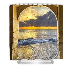 Ocean View Shower Curtain by Debra and Dave Vanderlaan
