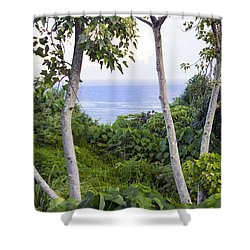 Ocean View Through Jungle Shower Curtain