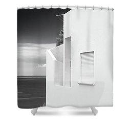 Ocean View White House Shower Curtain