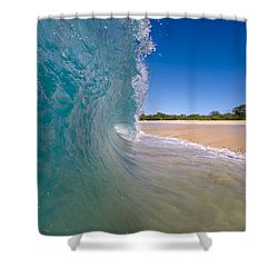 Ocean Wave Barrel Shower Curtain