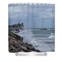 Ocean Waves At Minot Beach Shower Curtain