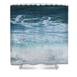 Ocean Waves From The Depths Of The Stars Shower Curtain by Sharon Mau