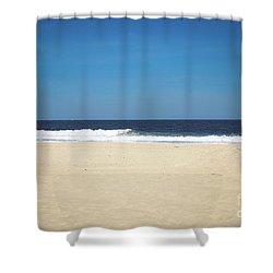 Ocean Waves On The Horizon Shower Curtain