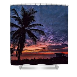 Oceanfront Before Sunrise Shower Curtain