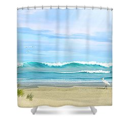 Oceanic Landscape Shower Curtain
