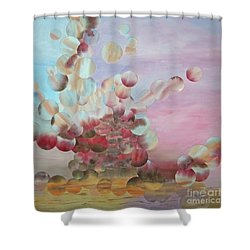 Ocean's Draw Shower Curtain by Jeni Bate