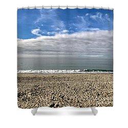 Ocean's Edge Shower Curtain by Kim Nelson
