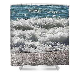 Shower Curtain featuring the photograph Oceans Layers by Colleen Coccia