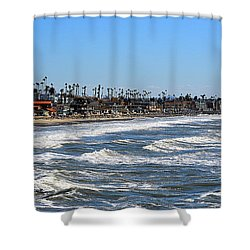 Shower Curtain featuring the photograph Oceanside by AJ Schibig