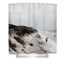 Oceanside Shower Curtain by Amar Sheow