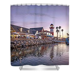 Oceanside Harbor Shower Curtain by Ann Patterson