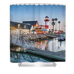 Oceanside Harbor Village At Dusk Shower Curtain