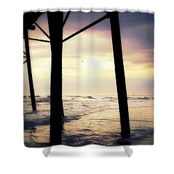 Shower Curtain featuring the photograph Oceanside - Late Afternoon by Glenn McCarthy