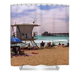 Oceanside Lifeguard Shower Curtain