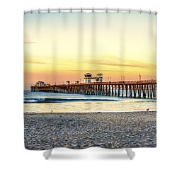 Oceanside Pier Sunrise Shower Curtain by Joseph S Giacalone