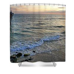Oceanside Shower Curtain by Skip Hunt