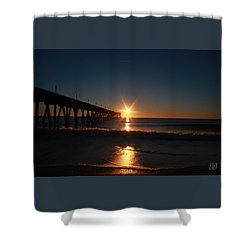 Oceanview Sunrise Shower Curtain by Geri Glavis