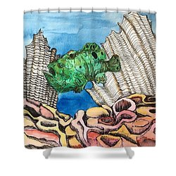 Ocellated Frogfish Shower Curtain