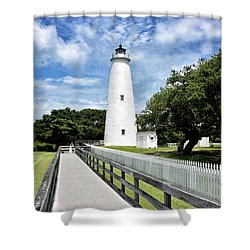 Ocracoke Light Shower Curtain