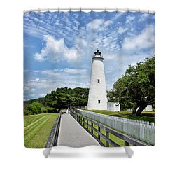 Ocracoke Lighthouse - Outer Banks Shower Curtain
