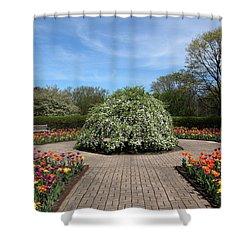 Octagon Garden At Cantigny Park Shower Curtain by Rosanne Jordan
