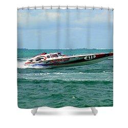 Octane Shower Curtain by Karen Wiles