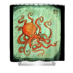 Octo Tako With Surprise Shower Curtain