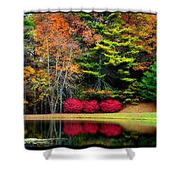 October Afternoon In The Blue Ridge Mountains Shower Curtain