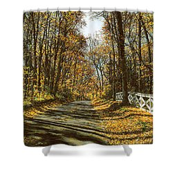 October Backroad Shower Curtain