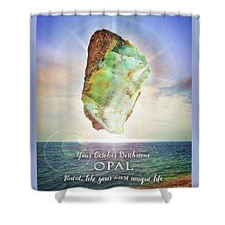October Birthstone Opal Shower Curtain