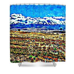 October Clouds Over Spanish Peaks Shower Curtain