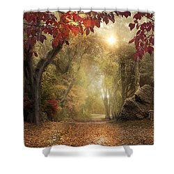 Shower Curtain featuring the photograph October Dreamer by Robin-Lee Vieira