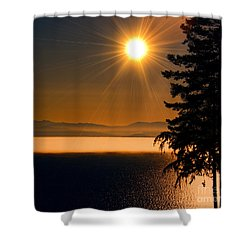October Fog Shower Curtain by Elaine Hunter
