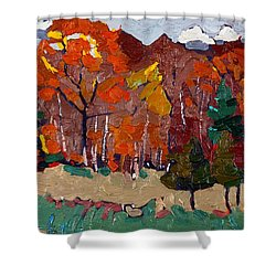 October Forest Shower Curtain