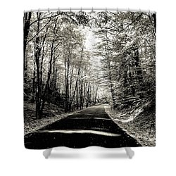 Shower Curtain featuring the photograph October Grayscale  by Kendall McKernon
