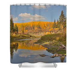 October Shower Curtain by Jim Sauchyn