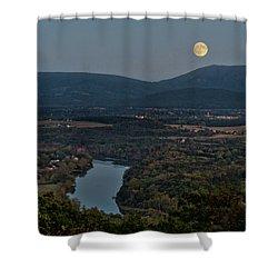 October Moon Over Shenandoah Shower Curtain