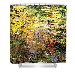 October Pond Shower Curtain