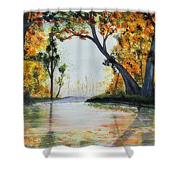 October Reflections Shower Curtain by Jack G  Brauer