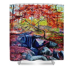 October Riot Shower Curtain
