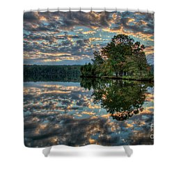 Shower Curtain featuring the photograph October Skies by Douglas Stucky