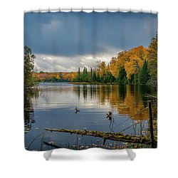 October Storm Shower Curtain
