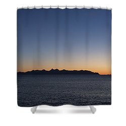 October Sunset Shower Curtain