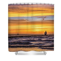 Shower Curtain featuring the photograph October Surprise by Bill Pevlor