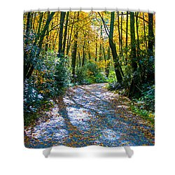 October's Path Shower Curtain