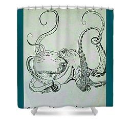Octopodiformes Octopus Shower Curtain by Scott D Van Osdol