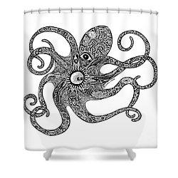 Octopus Shower Curtain by Carol Lynne