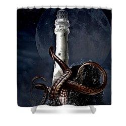 Octopus Lighthouse Shower Curtain